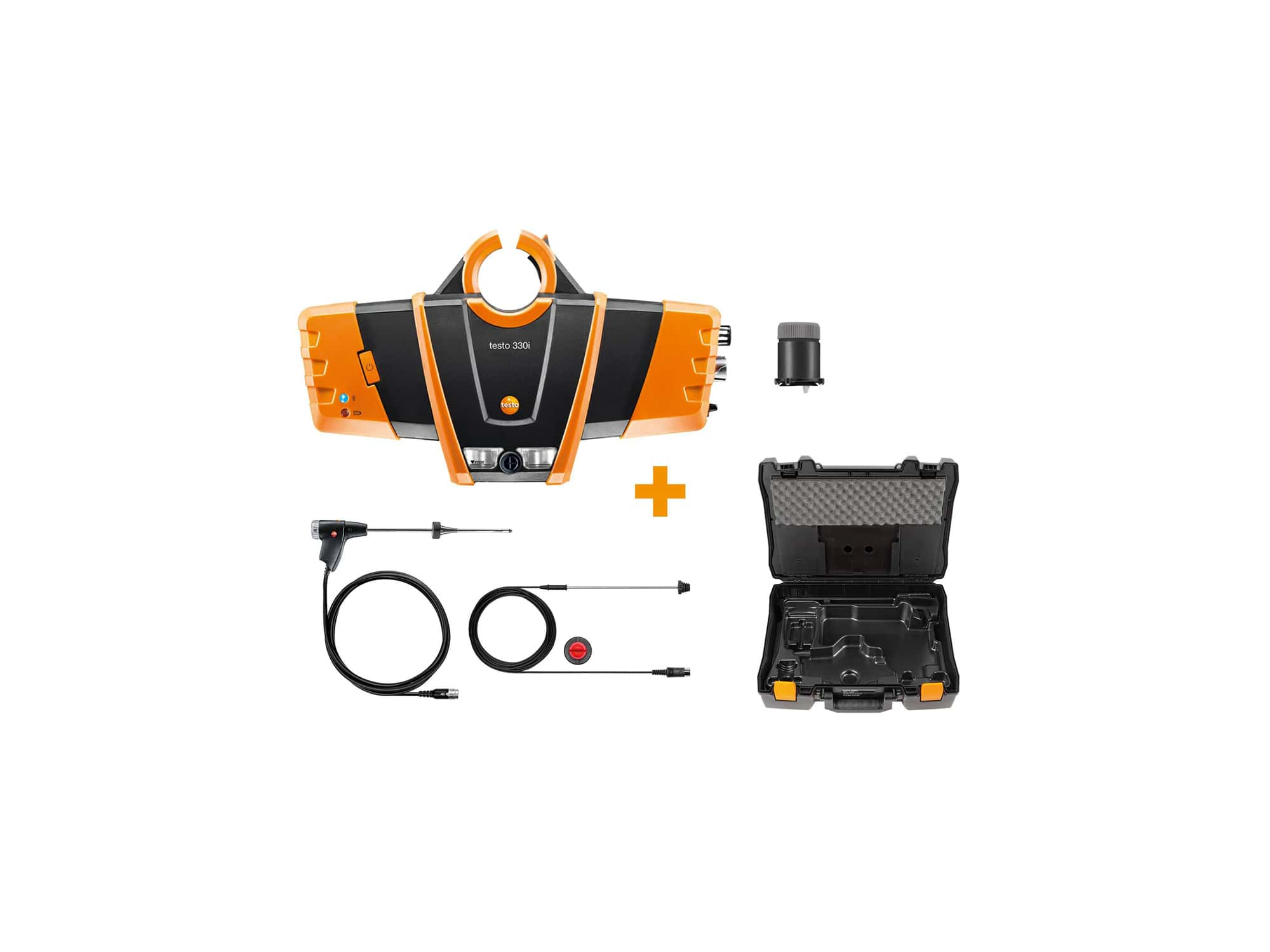 testo 330i heating engineering set - Flue gas measurement on gas, oil and solid fuel systems